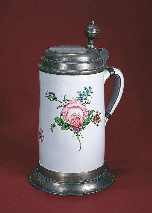 Proskauer Fayencewalzenkrug um 1790