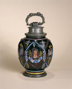 Dippoldiswalde-Annaberg-Steinzeugflasche datiert 1693