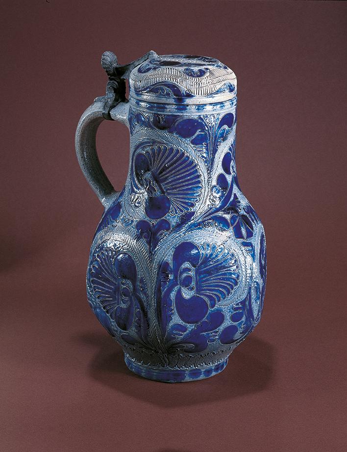 18th century Westerwald Saltglazed stoneware Jug