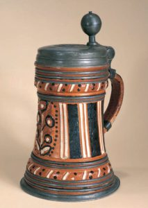 17th century antique saltglazed stoneware stein Altenburg ca. 1700