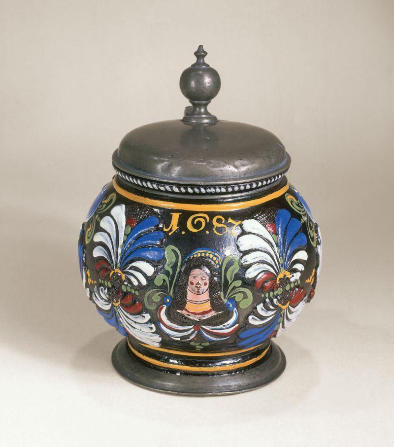 17th century Dippoldiswalde-Annaberg-stoneware-1687-dated