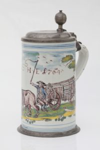 Ansbacher Walzenkrug 1764 datiert
