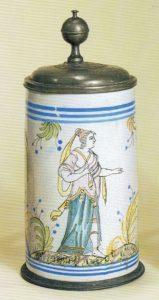 Bayreuth - Fayence-Walzenkrug - ca. 1790