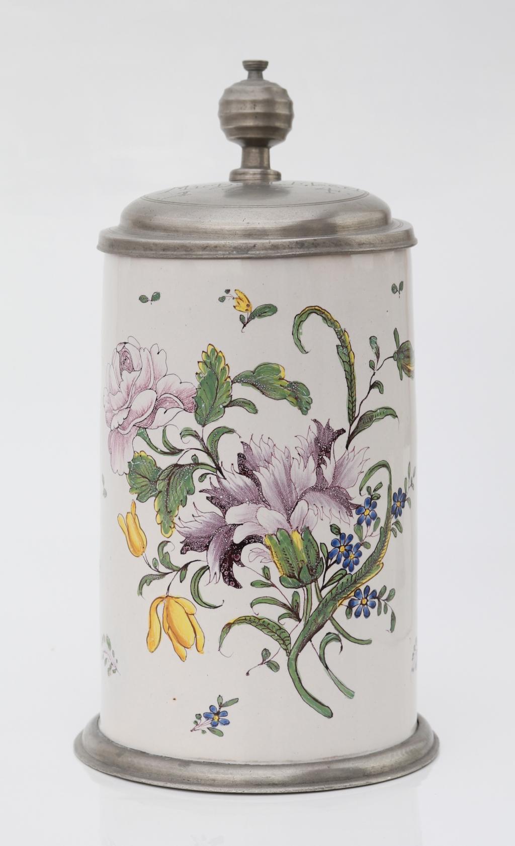 Crailsheimer Fayence Blumenkrug um 1774
