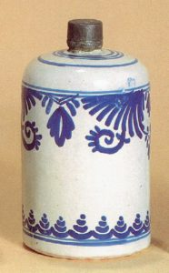 Fayence-Flasche-Fulda-ca. 1750