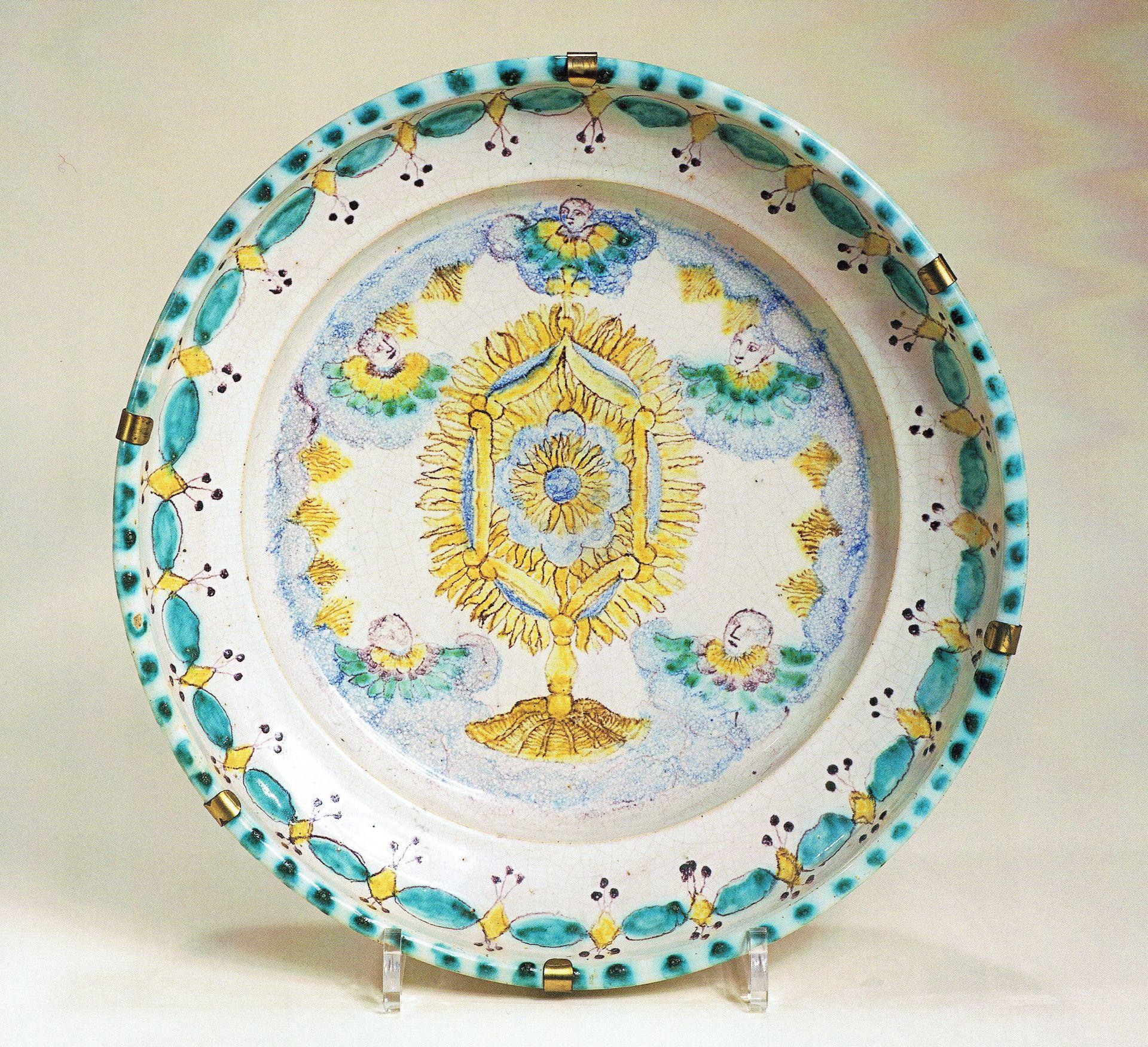 Fayence Schale Gmunden ca. 1820