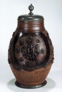 18th century saltglazed stoneware Muskau Birnkrug um 1760