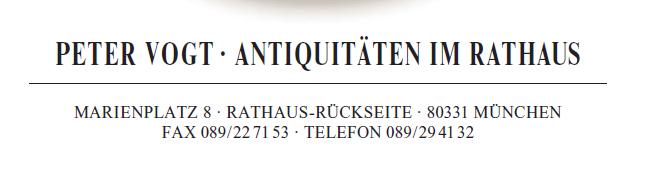 Peter Vogt Antiquitäten im Rathaus München