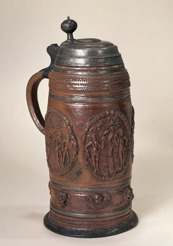 Salt glazed stoneware Waldenburger Steinzeughumpen ca. 1600