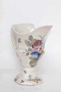 Zerbst Fayence Helmkanne um 1770