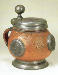 17th century Altenburg Saltglazed Stonware Stein ca. 1685