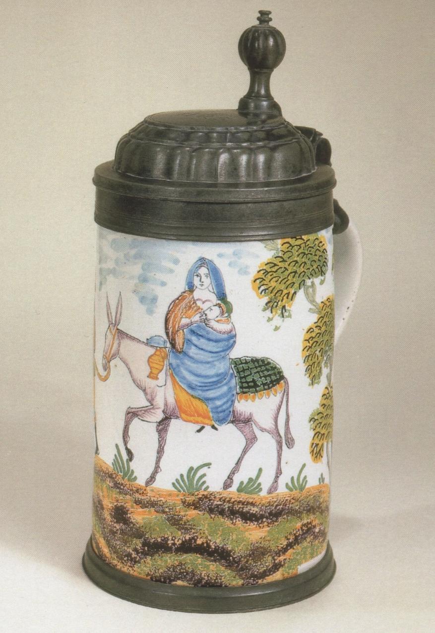 Crailsheimer Fayencekrug um 1780