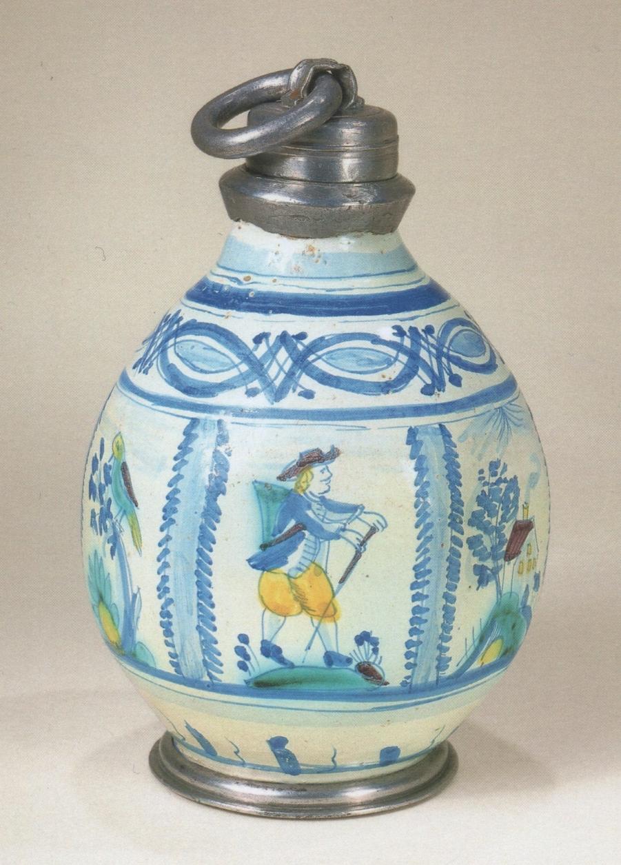 Salzburger Fayenceflasche um 1860