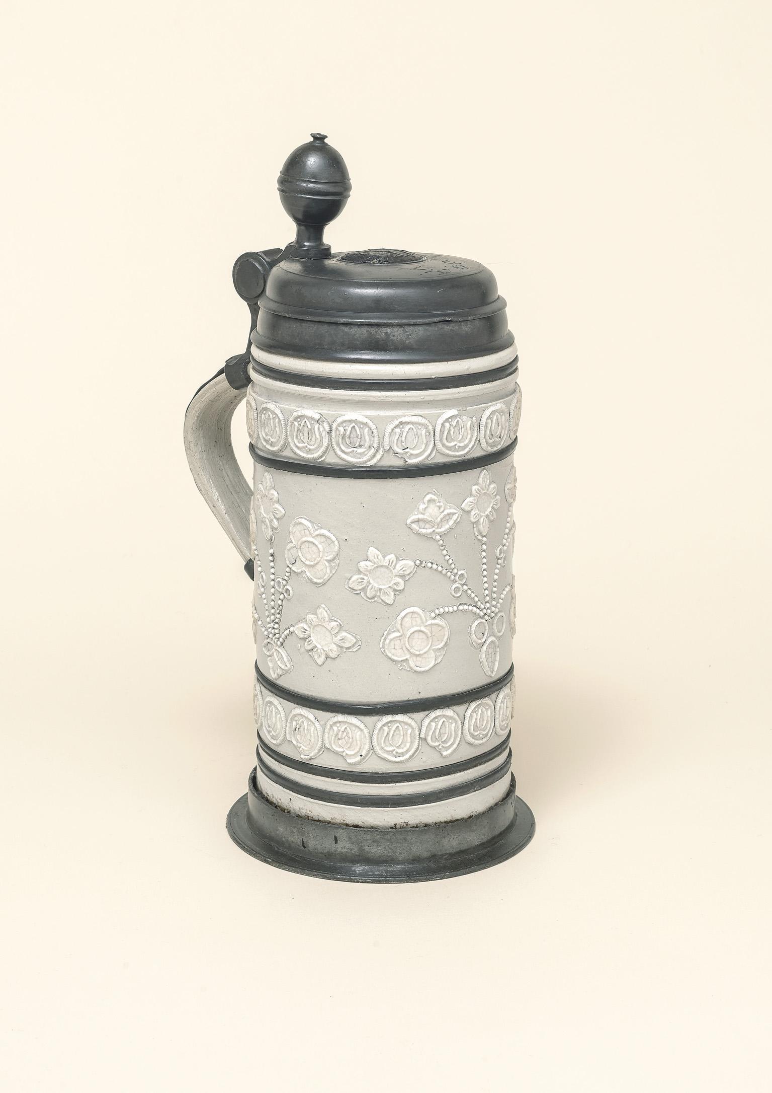 18th century Altenburg Saltglazed Stonware Tankard ca 1730
