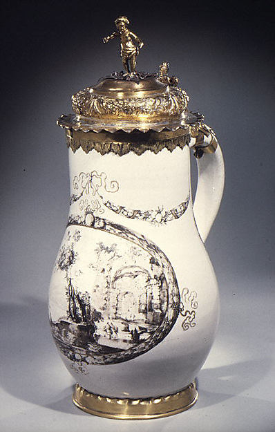 Johann Schaper Faience Jug ca. 1655 Metropolitan Museum http://www.metmuseum.org/art/collection/search/200894
