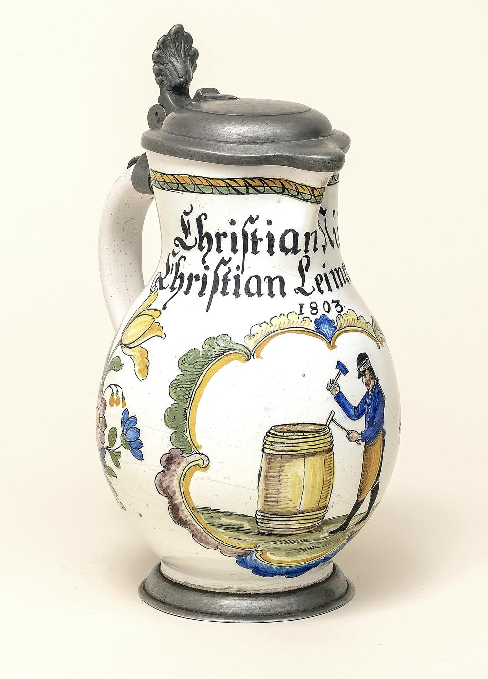 Durlacher Zunftkanne 1803 datiert