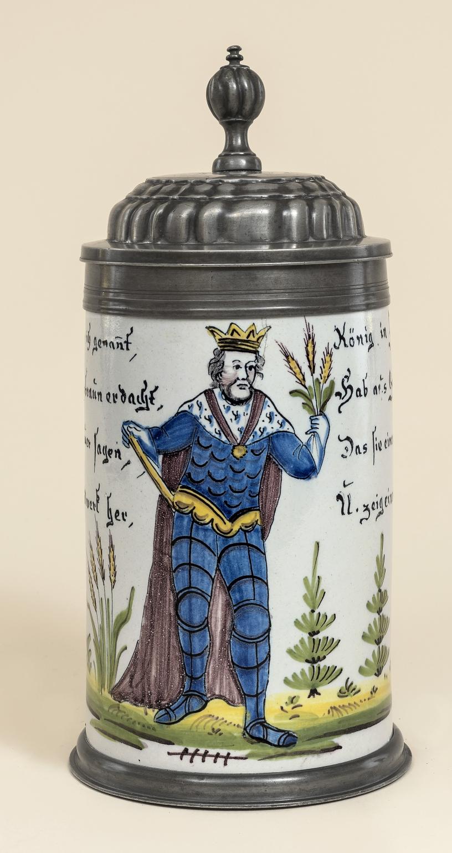 Schrezheimer Bierbrauerzunftkrug Gambrinus um 1790