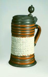 18th century Altenburg saltglazed Stoneware Tankard ca. 1720