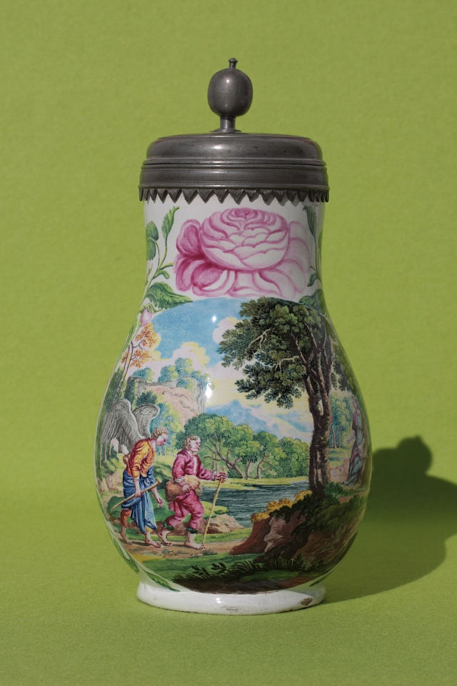 Pear-shaped Jug Wolfgang Rössler ca. 1690 Muffle-fired enamel colors