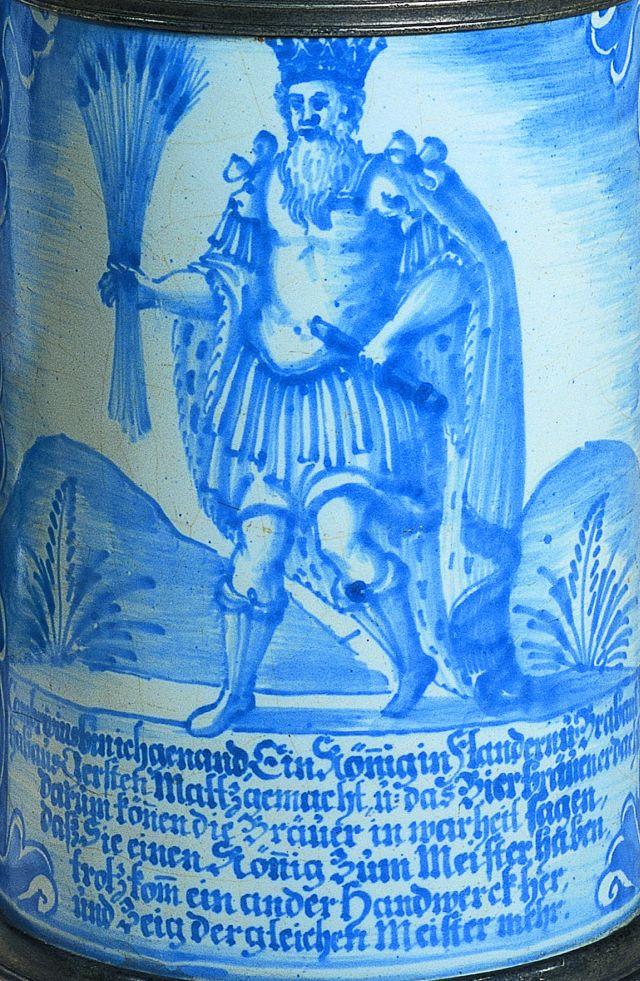 Nurnberg Faience Stein ca. 1760 Gambrinus