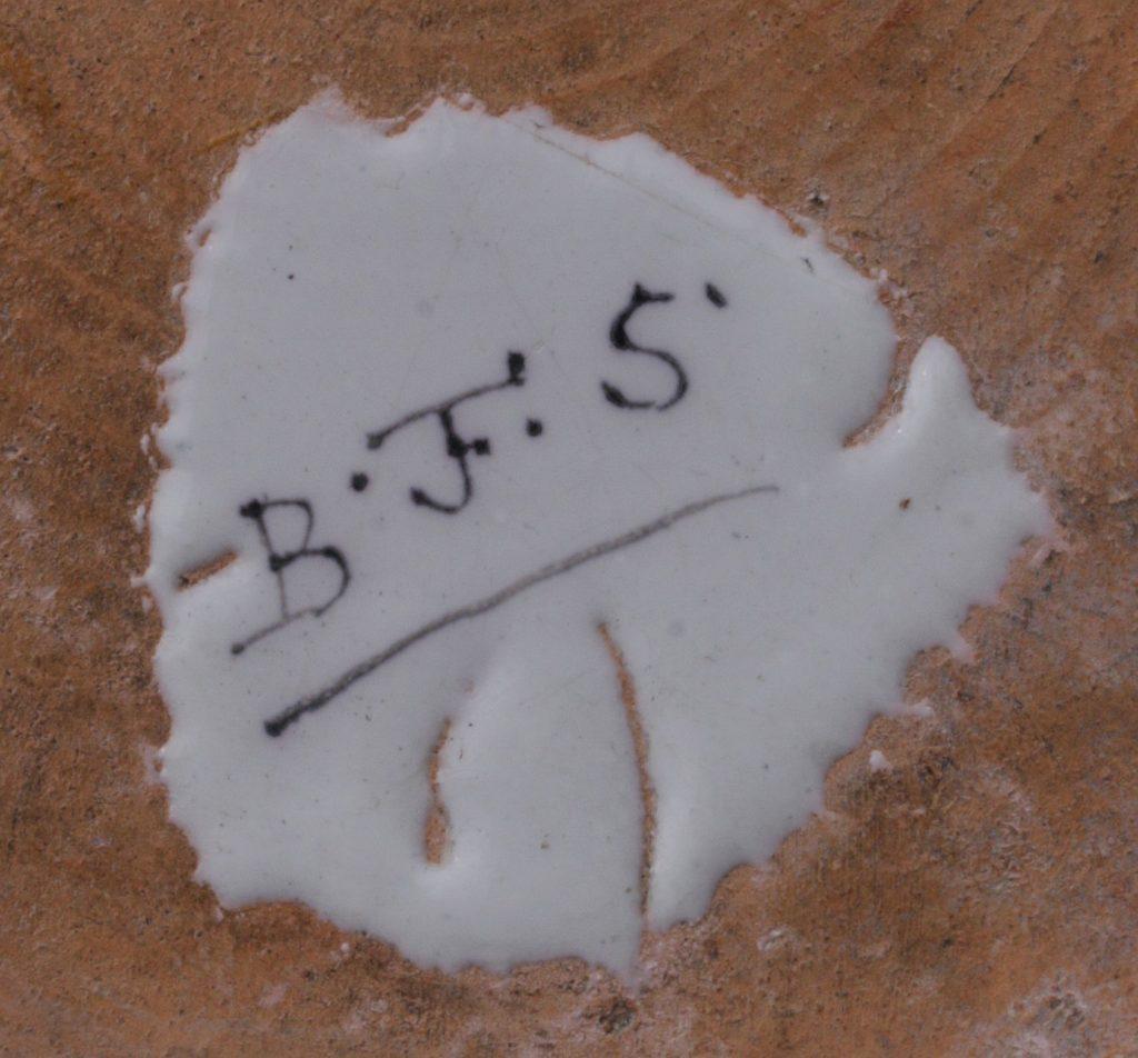 """Bayreuth Faience Tankard Manufactuer Marks """"BFS"""""""