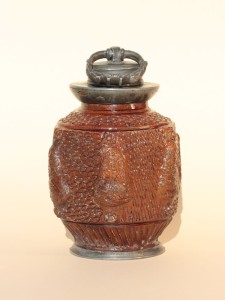 Rare Bunzlau Stoneware Bottle ca. 1680