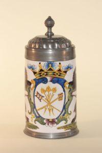 Crailsheim Faience Tankard Brewer Guilt ca. 1780