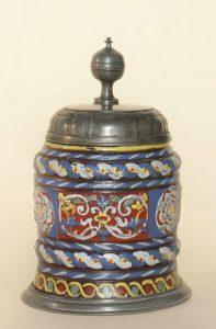 17th century Saltglazed Creussen Stoneware Tankard ca. 1680 H. 18 cm