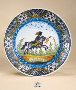 Dresden Faience Plate dated 1785 D. 24 cm