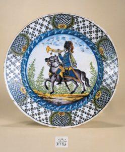 Dresden Faience Plate dated 1785 D. 24 cm