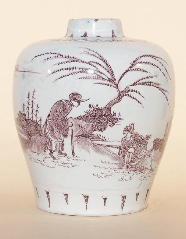 Frankfurt Faience Vase ca. 1680 H. 20 cm