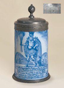 Nuernberger Gambrinuns Krug 1760 datiert