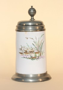 Proskau Faience Hunting Tankard ca. 1755 H. 25 cm