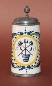 Schrattenhofen Brewer Guilt Tankard dated 1781