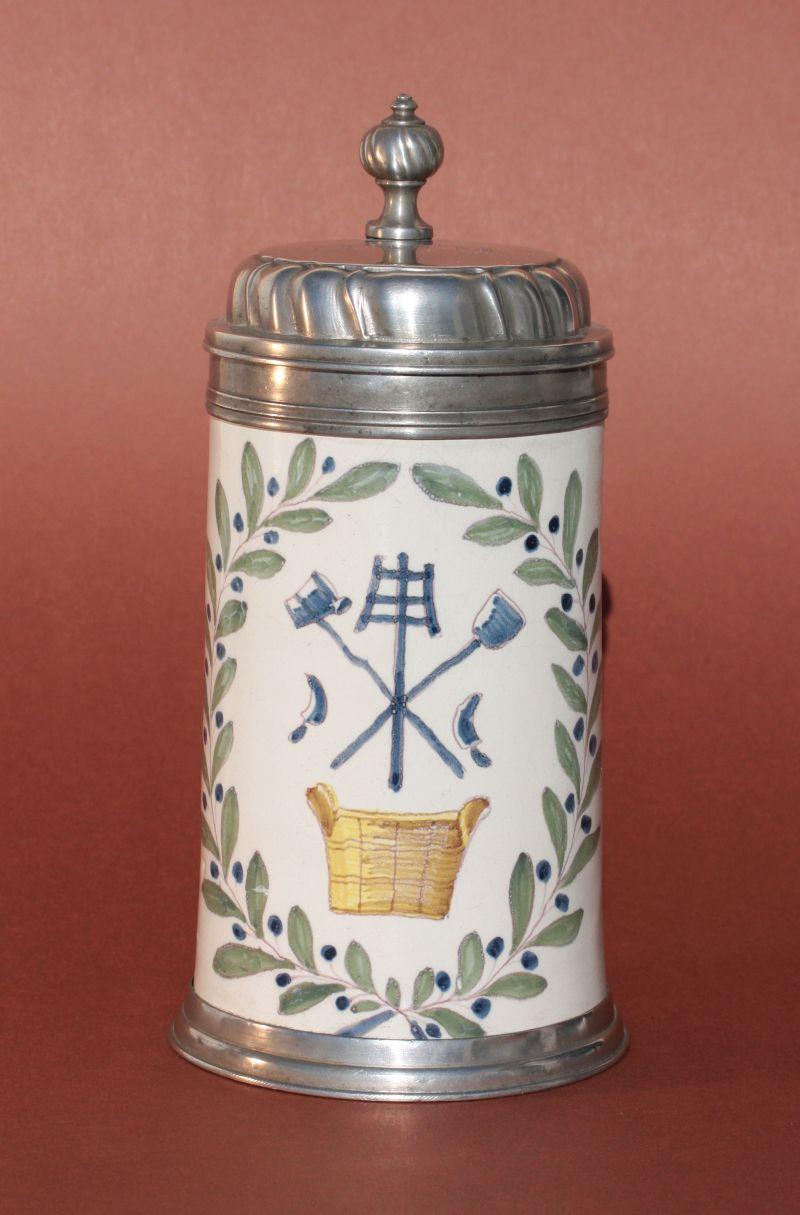 Schrattenhofen Brewer Guilt Tankard ca. 1785