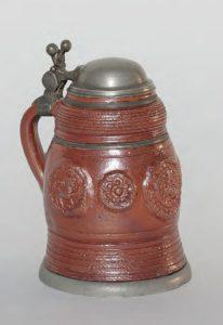 17th century Waldenburg Stoneware Tankard ca. 1650 H. 14,50 cm
