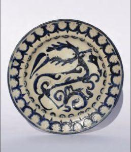 18th century Westerwald Saltglazed Stoneware Plate ca. 1740 D. 30 cm