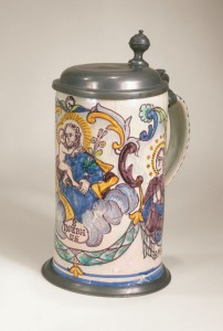 "Gmunden Faiece Tankard dated 1789, Marked ""I:A:L:"""
