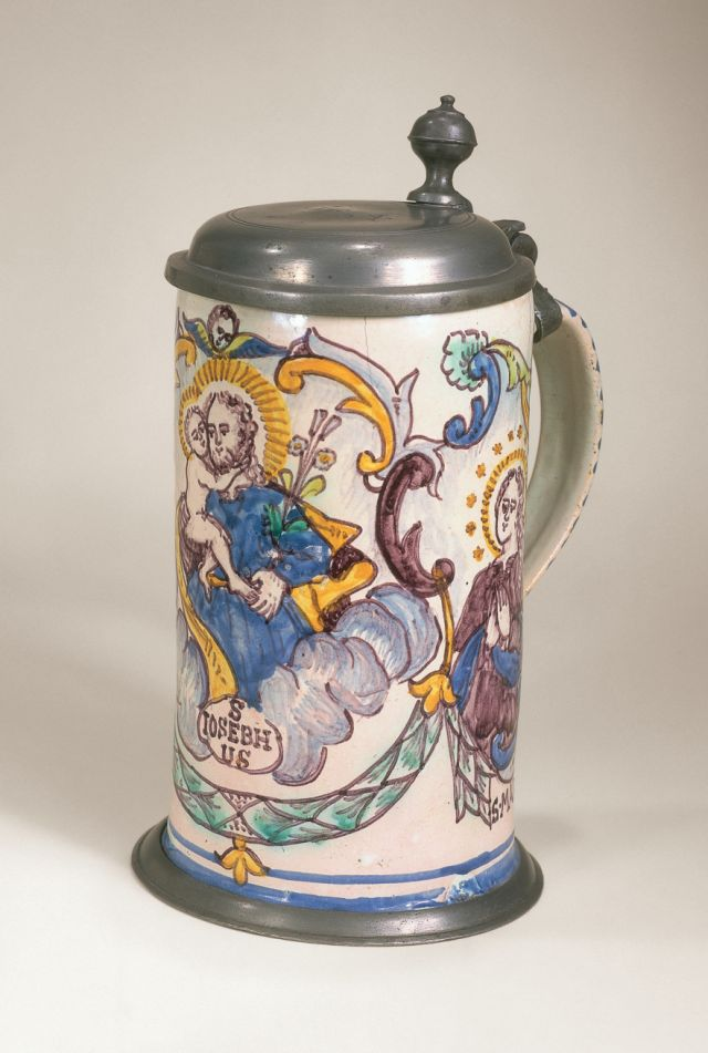 """Gmunden Faiece Tankard dated 1789, Marked """"I:A:L:"""""""