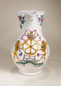 Holitsch Guild Jug dated 1776 muffle-fired enamel color