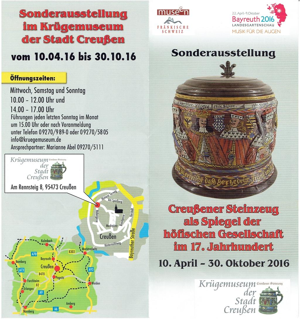 Museum Creussen Ausstellung Creussener Steinzeug im 17. Jahrhundert