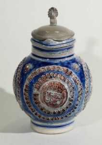 17th century-saltglazed-stoneware-westerwald-jug-ca-1690- blue and manganese