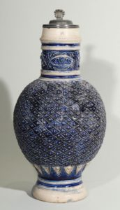 westerwald-jug-blue salt glazed stoneware 17th century