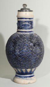 westerwald-jug-blue salt glazed stoneware 17th century
