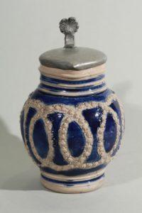 17th century westerwald- blue salt glazed stoneware - jug