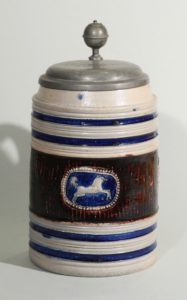 westerwald-tankard-walzenkrug-um-1720 - salt glazed stoneware - jug