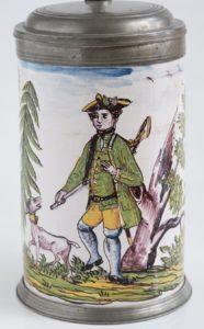 Crailsheim Fayence Jagd Walzenkrug um 1770