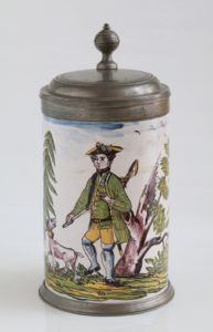 Crailsheim Fayence Jagdkrug um 1770