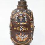 Creussen Saltglazed Stoneware Stein Flask ca. 1625