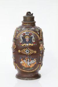 17th century Creussen Saltglazed Stoneware Stein Flask ca. 1625